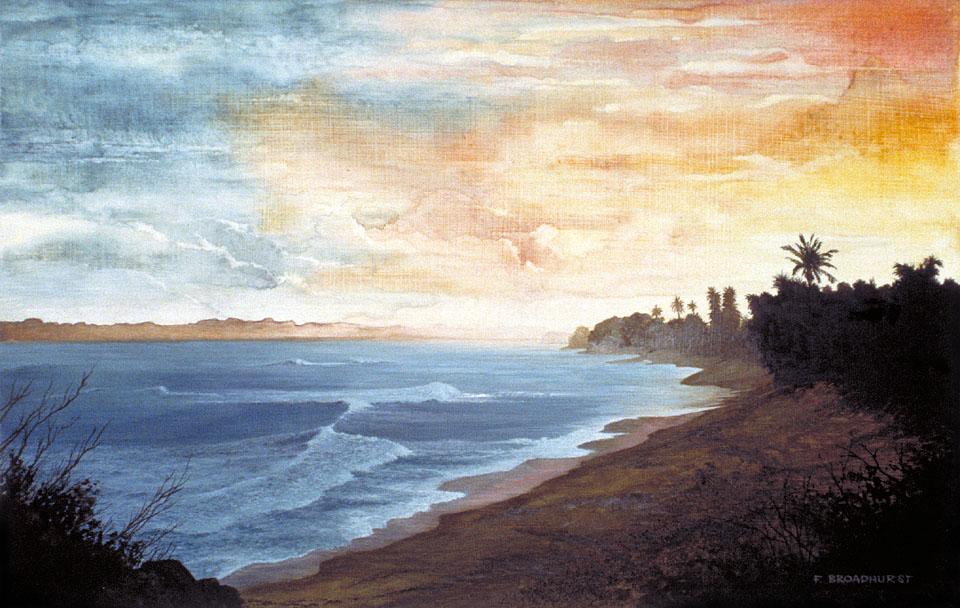 "Island Sunset 22.5""x14.5"""